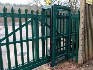 Secure gates at Parkend
